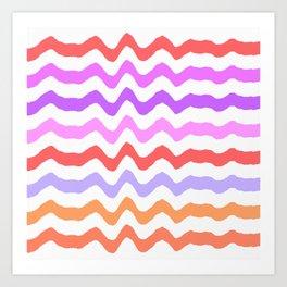 Pastel Waves II Art Print