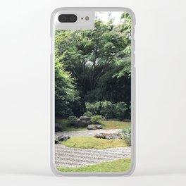 Zen Garden at the Japanese Tea Garden in San Francisco Clear iPhone Case
