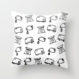 Kitchen Electric Marker Drawing Throw Pillow