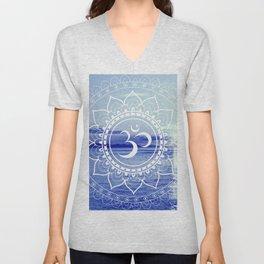 Om Mandala : Blue Waters Unisex V-Neck