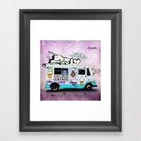 Ice Cream Truck Framed Art Print