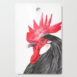 Rooster Portrait Cutting Board