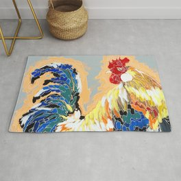 Paint 04 Chuck Funky Rooster Painting Rug