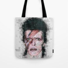David Bowie Newspaper Style Tote Bag