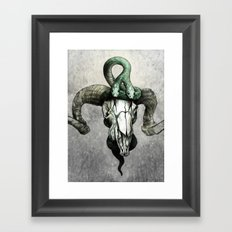 Hell followed with him Framed Art Print