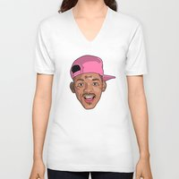 fresh prince V-neck T-shirts featuring Sitcom OG, Master William, The Fresh Prince of Bel-Air. by Mr. Mour