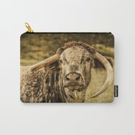 Vintage Longhorn Cattle Carry-All Pouch