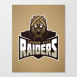 Tusken City Raiders - Tan Canvas Print