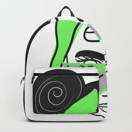 Girl with green hair Backpack