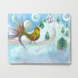 Christmas Dream Bird Metal Print