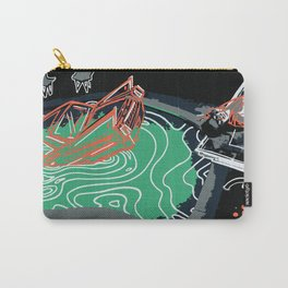 Teal & Orange Death of a Bachelor Carry-All Pouch
