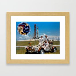 Apollo 17 - Prime Crew Portrait Framed Art Print