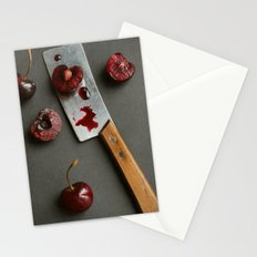 Cherries and Mini Cleaver Stationery Cards