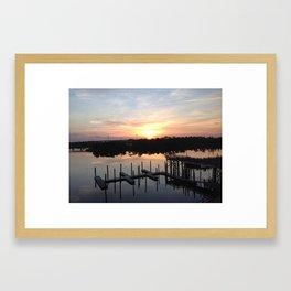 Wilmington, North Carolina Cape Fear River Sunset Framed Art Print