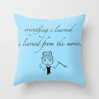 movies Throw Pillows featuring The Movies... by Jaclyn Celeste