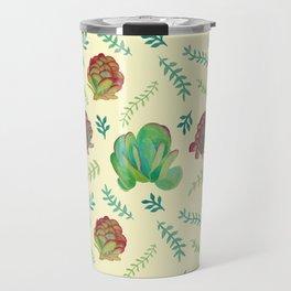 Paddle Plant Pattern Travel Mug