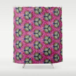 Pink Urchins African Ankara Shower Curtain
