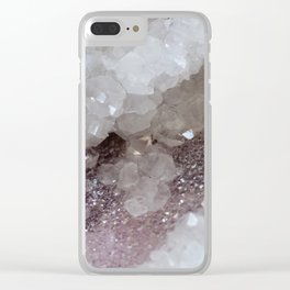 Silver & Quartz Crystal Clear iPhone Case