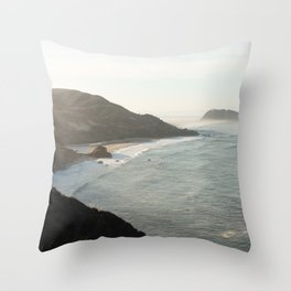 Sunrise over Big Sur Throw Pillow