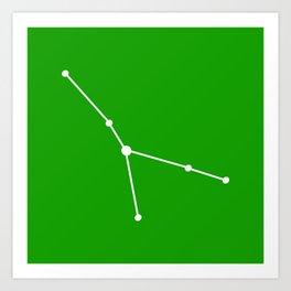 Cancer (White & Green) Art Print