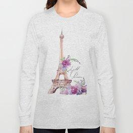 Eiffel Tower Vintage Paris France Long Sleeve T-shirt