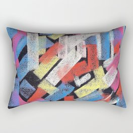 Multicolor construct Rectangular Pillow