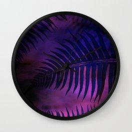 Forest Ferns - Warm Wall Clock