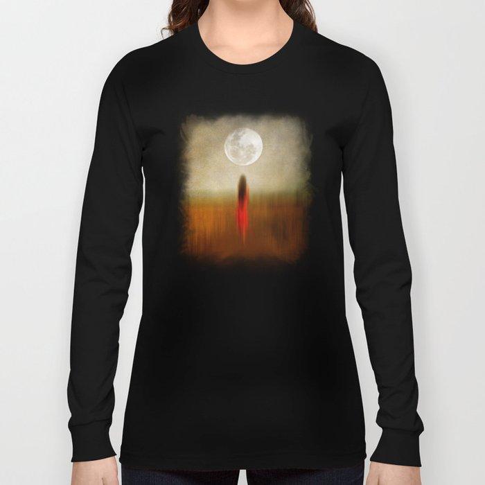 Woman in red. by Viviana Gonzalez Long Sleeve T-shirt