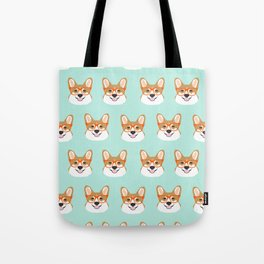 Corgi glasses cute funny dog gifts for welsh corgi dog breed owners must haves by pet friendly Tote Bag