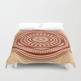 Maroon Pattern Duvet Cover