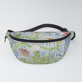Flowers Alive Watercolor Fanny Pack