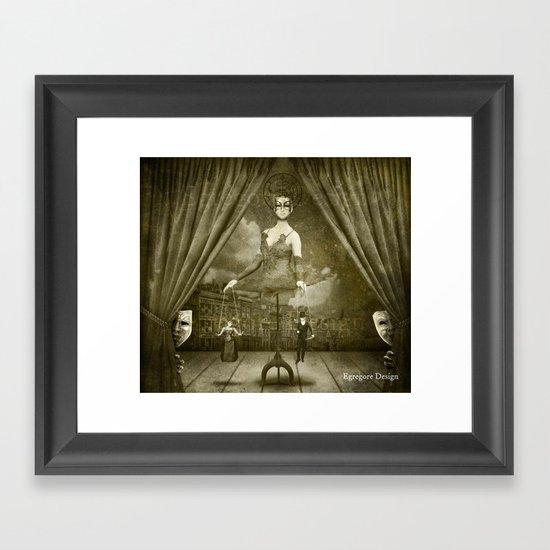 Dark Victorian Portrait Series: A Ghastly Spectacle Framed Art Print