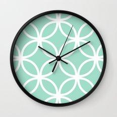 Mint Geometric Circles Wall Clock