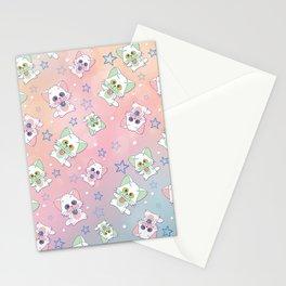 Kawaii Alien Cats Stationery Cards