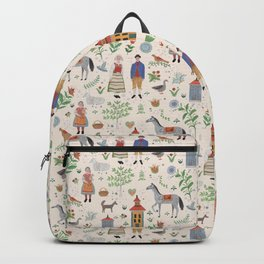 Swedish Folk Art Backpack