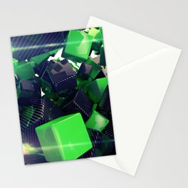 The Riddler Maze of Carbon Quaders Stationery Cards