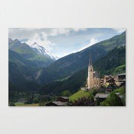 Heiligenblut And Großglockner Poster | Landscape Photography | Pfarrkirche Heiligenblut Austria Canvas Print