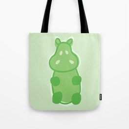 Gummy Hippo - Green Tote Bag