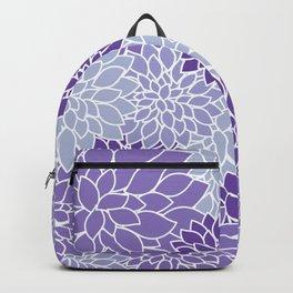 Ultra Violet Lavender Dahlias Backpack