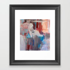 Abstract in Rust Framed Art Print