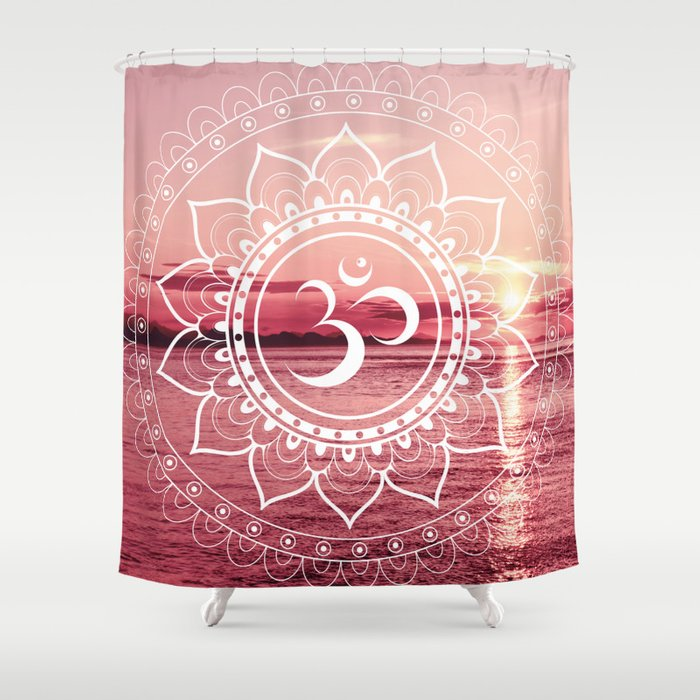 Water Om Mandala : Rose Pink Shower Curtain by lilkiddies | Society6