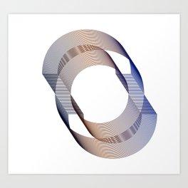 Circle of life - Minimal elegant Art Print