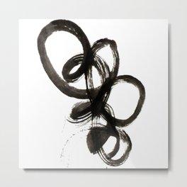 black curl Metal Print