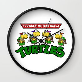 Teenage Mutant Ninja Turtles Mario Wall Clock