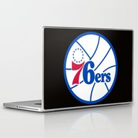 nba Laptop & iPad Skins featuring NBA - 76ers by Katieb1013