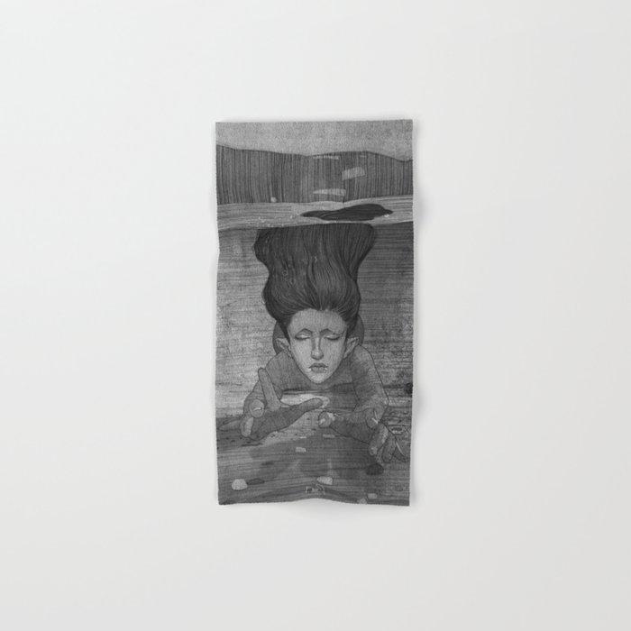 Sea Lady illustration Hand & Bath Towel