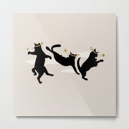 Ninja Cats I. Metal Print