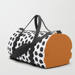 Classy Handpainted Polka Dots with Autumn Maple Duffle Bag
