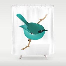 Little Blue Bird Shower Curtain