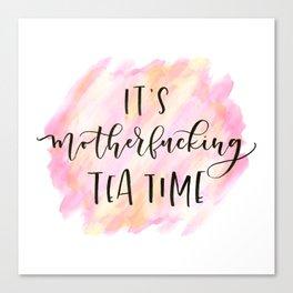 Mofo Tea Time Canvas Print